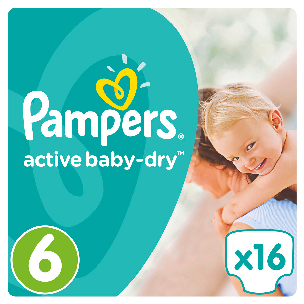 Pampers Active Baby Подгузники 6, 15+ кг, 16 шт подгузники pampers active baby dry размер 4 7 14 кг 132 шт