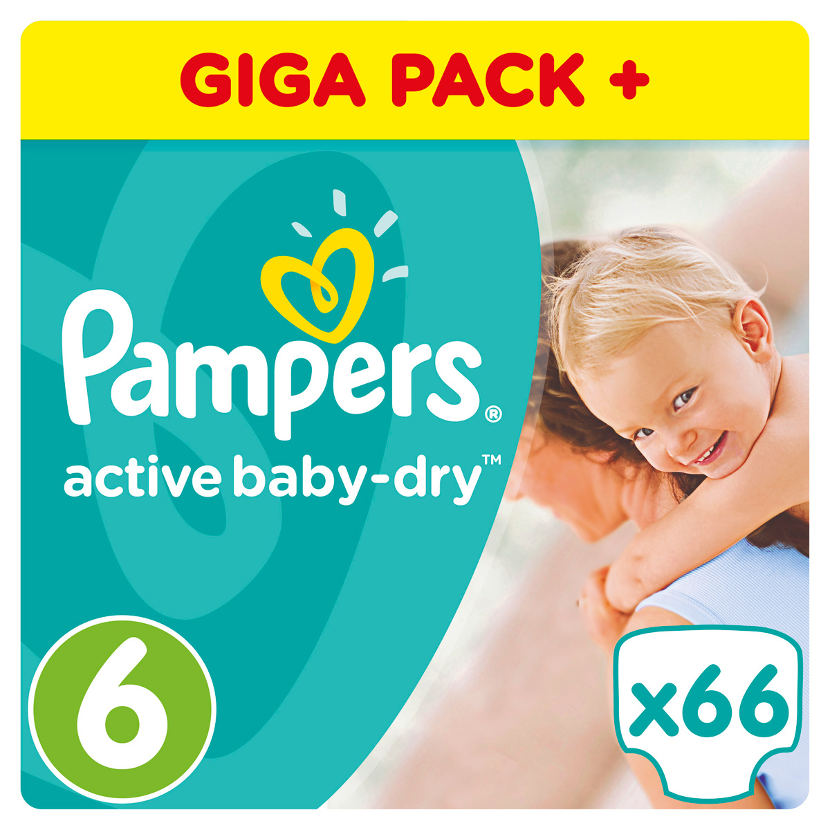 Pampers Подгузники Active Baby-Dry от 15 кг (размер 6) 66 шт pampers active baby dry extra large