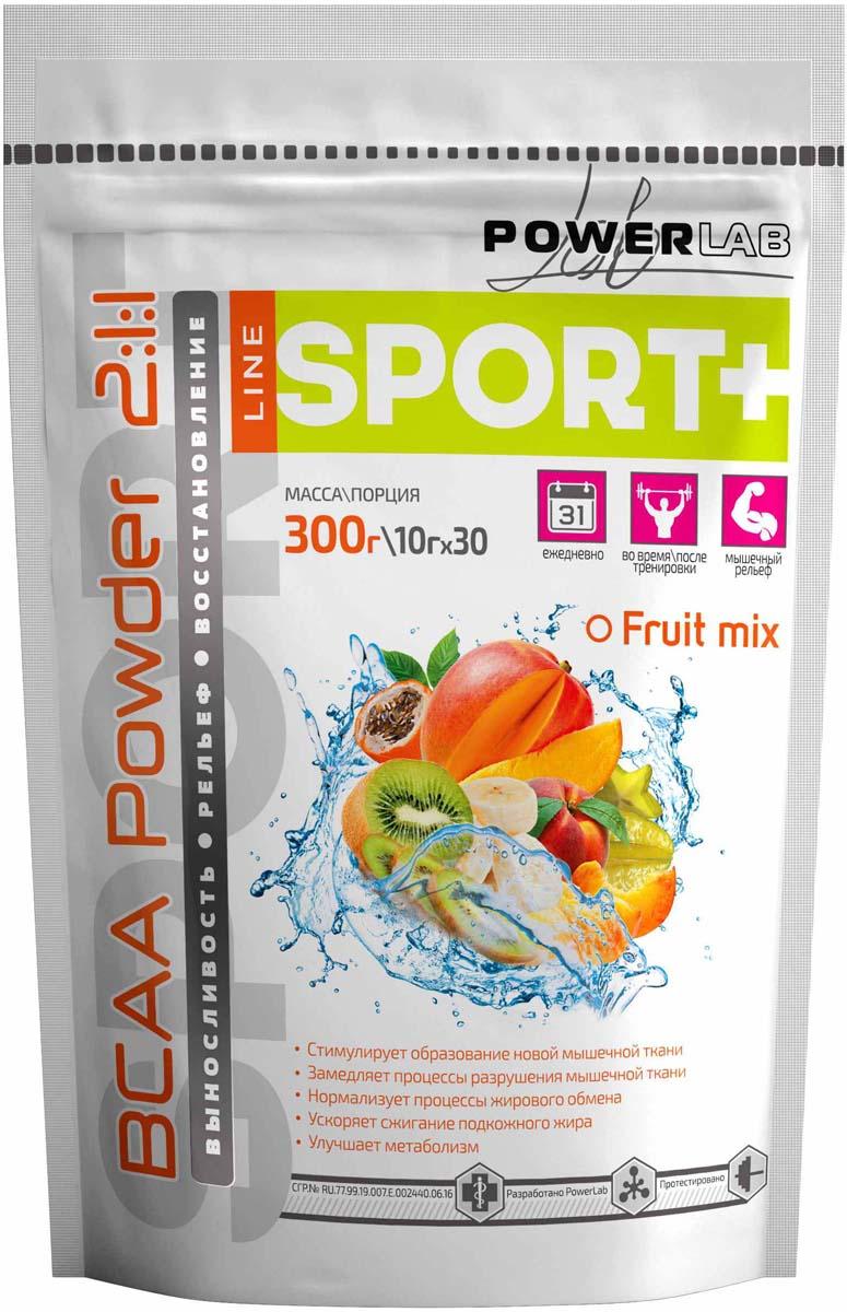 ВСАА PowerLab  Powder , фруктовый, 300 г - BCAA