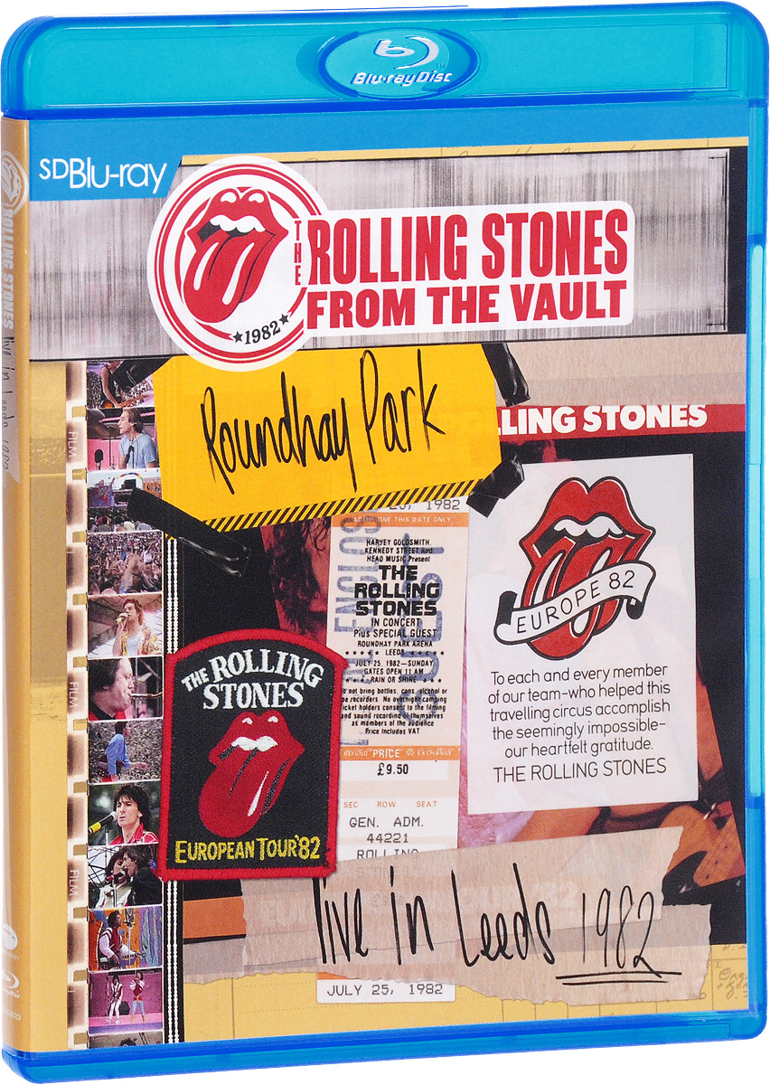 The Rolling Stones: From The Vault Live in Leeds 1982 (Blu-ray) francis rossi live from st luke s london blu ray
