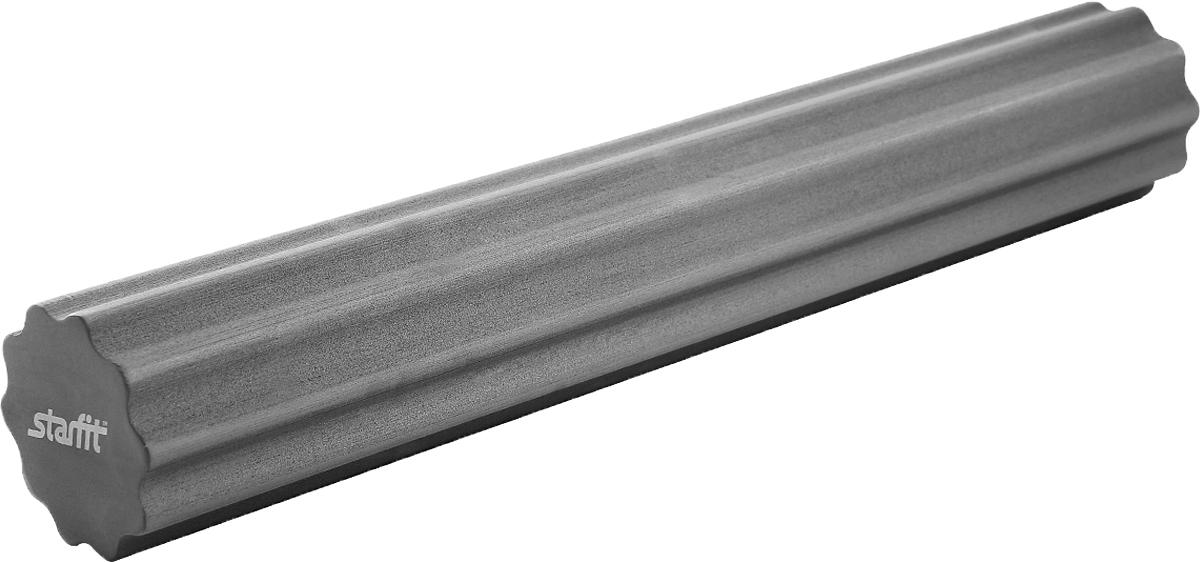 Ролик для йоги и пилатеса Starfit FA-505, цвет: серый, 15 х 15 х 90 смУТ-00009799Ролик для йоги и пилатеса Star Fit FA-505, выполненный из этиленвинилацетата, укрепляет брюшной пресс, стимулирует растяжку длинных мышц спины. Инновационная поверхность с десятью глубокими (14 мм) ребрами глубоко прорабатывает и массирует мышцы спины, ног, ступней.Такой гимнастический ролик повышает тонус мышц брюшного пресса, рук, ног, бедер и плеч, а также улучшает рельеф и форму живота.