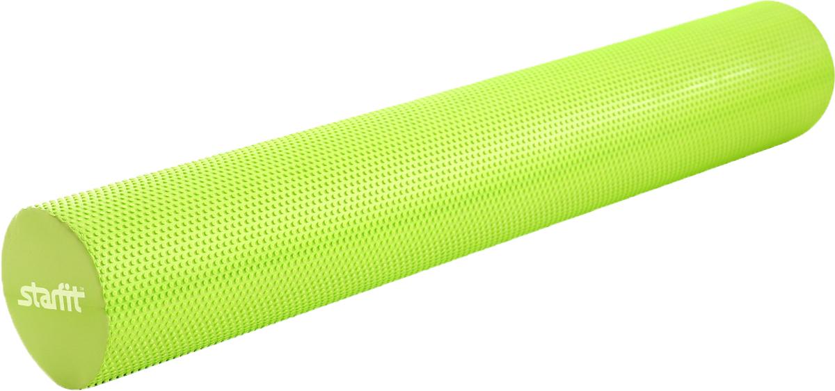 Ролик для йоги и пилатеса Starfit FA-506, цвет: зеленый, 15 х 15 х 90 смУТ-00009800Ролик для йоги и пилатеса Star Fit FA-506, выполненный из этиленвинилацетата, укрепляет брюшной пресс, стимулирует растяжку длинных мышц спины. Изделие имеет массажное покрытие.Такой гимнастический ролик повышает тонус мышц брюшного пресса, рук, ног, бедер и плеч, а также улучшает рельеф и форму живота.