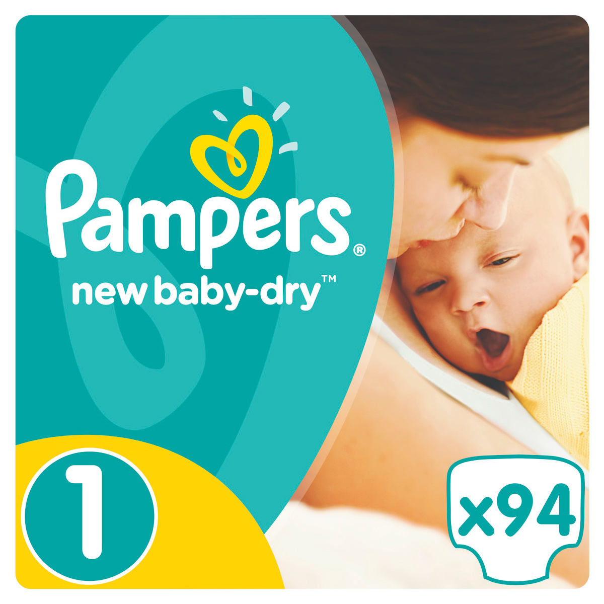 Pampers Подгузники New Baby-Dry 2-5 кг (размер 1) 94 шт цена pampers 2