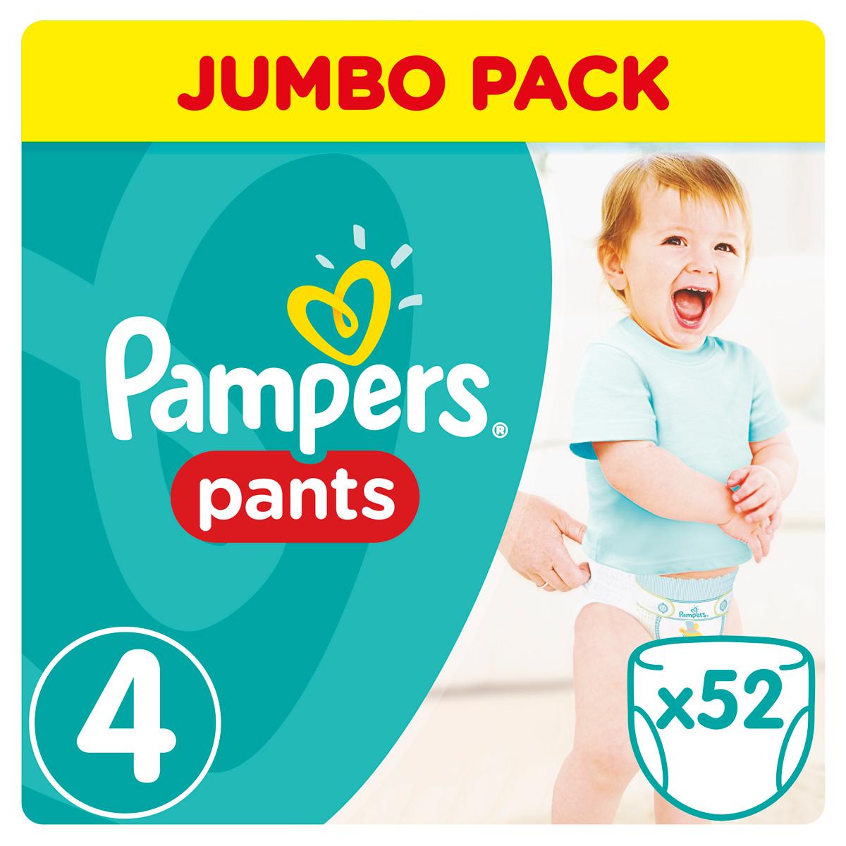 Pampers Pants Трусики 9-14 кг (размер 4) 52 шт