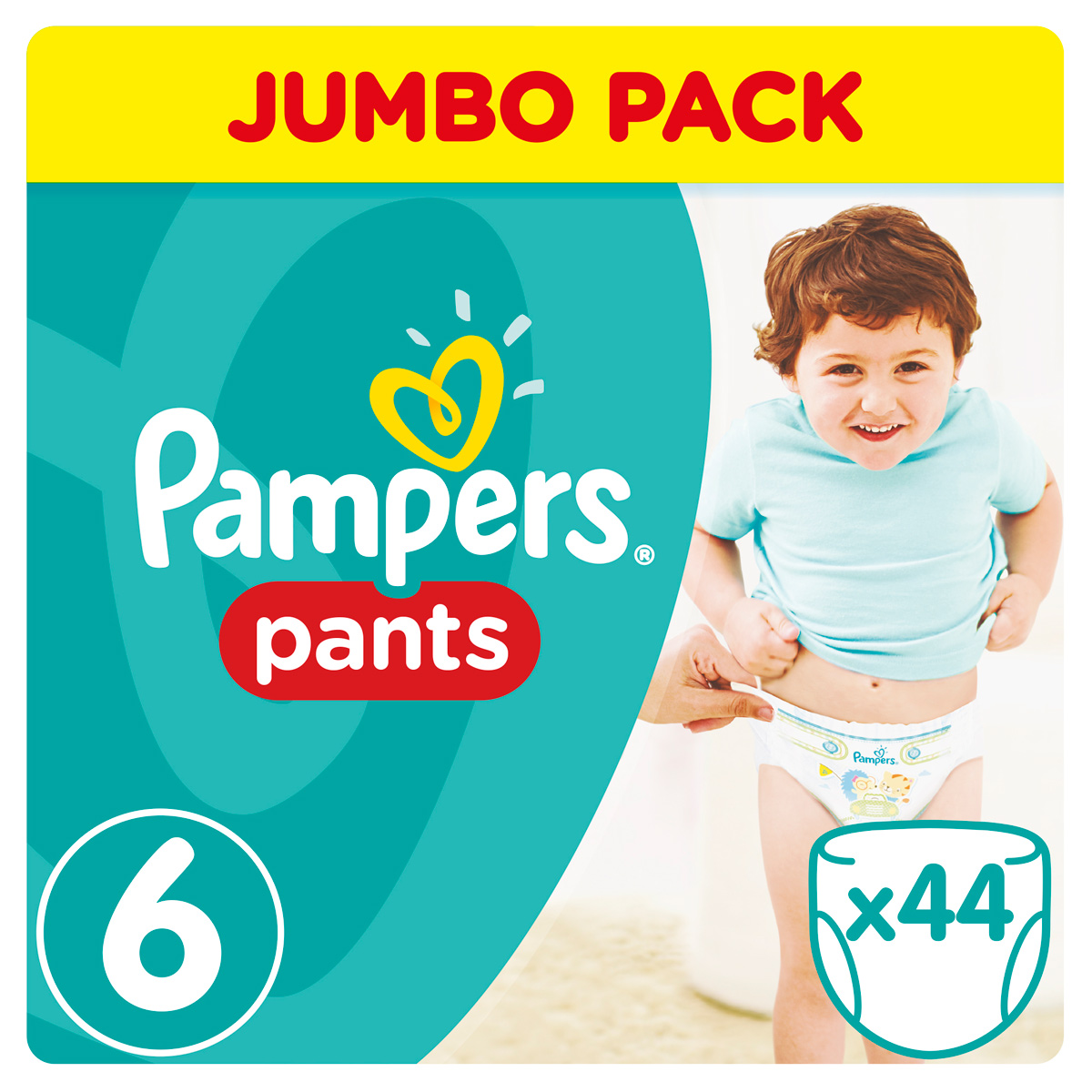 Pampers Pants Трусики от 16 кг (размер 6) 44 шт