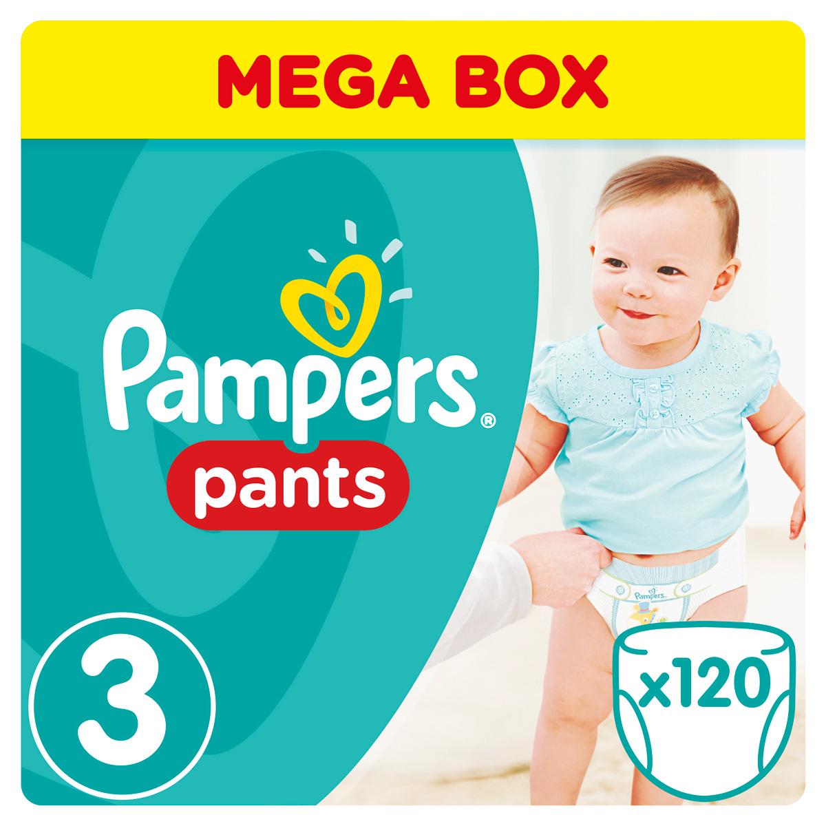 Pampers Pants Трусики 6-11 кг (размер 3) 120 шт