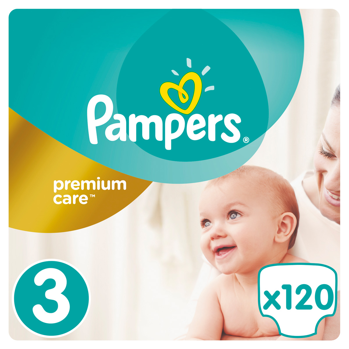 Pampers Подгузники Premium Care 5-9 кг (размер 3) 120 шт подгузники детские pampers подгузники pampers premium care 2 5 кг 1 размер 88 шт