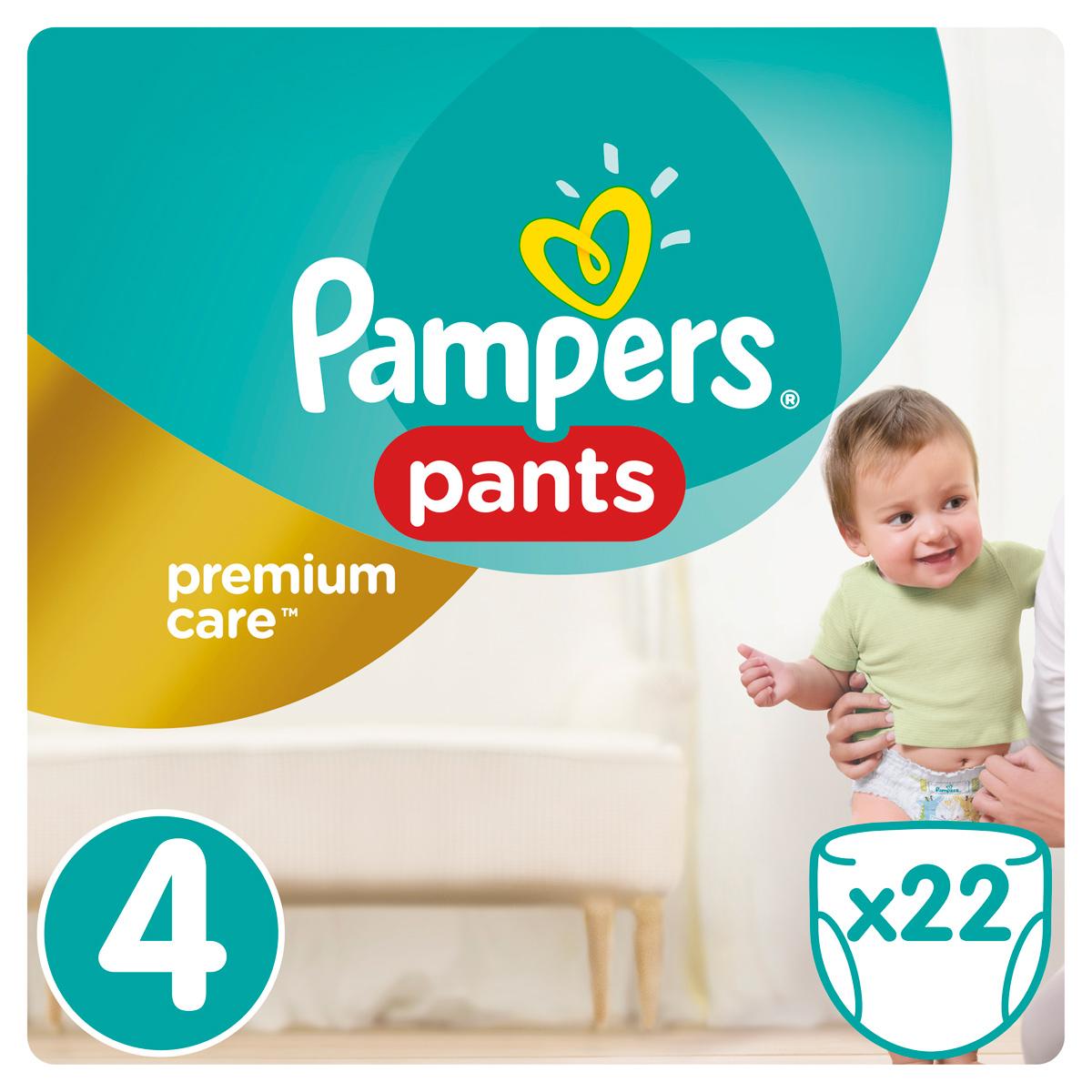 Pampers Pants Трусики Premium Care 9-14 кг (размер 4) 22 шт трусики подгузники pampers premium care pants maxi 9 14 кг средняя упаковка 22 шт