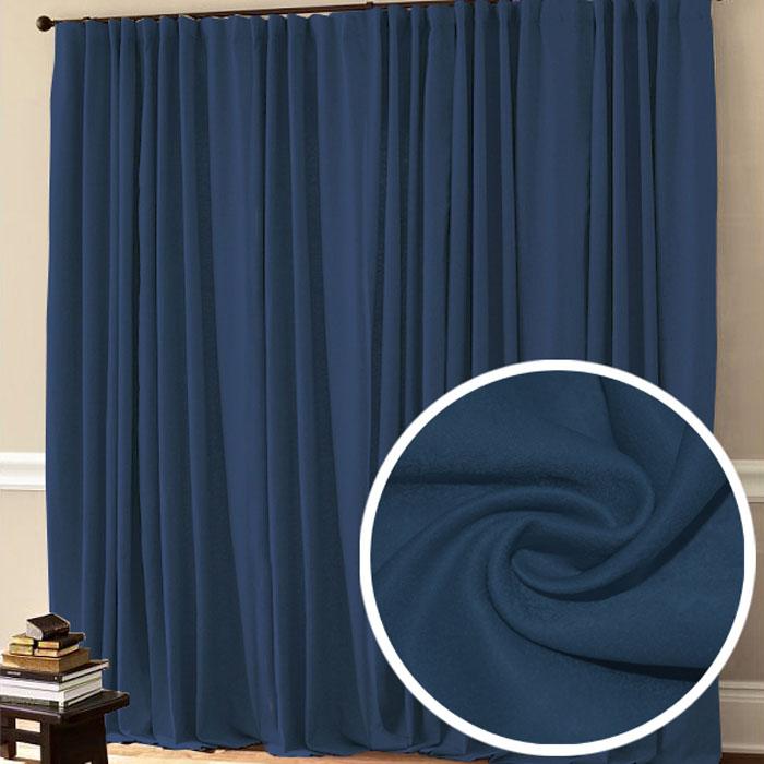 Портьера Amore Mio Софт, на ленте, цвет: синий, высота 270 см. 7750177501Портьера Amore Mio - плотная, мягкая, ворсистая ткань - софт, с деликатным сатиновым блеском. Эти портьеры будут идеальным решением для спальни. Изготовлены из 100% полиэстера. Полиэстер - вид ткани, состоящий из полиэфирных волокон. Ткани из полиэстера легкие, прочные и износостойкие. Такие изделия не требуют специального ухода, не пылятся и почти не мнутся.Крепление к карнизу осуществляется при помощи вшитой шторной ленты.