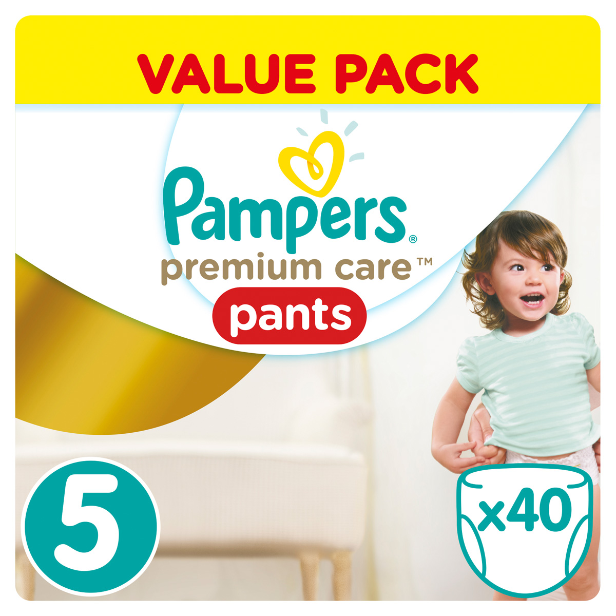 Pampers Pants Трусики Premium Care 12-18 кг (размер 5) 40 шт - Подгузники и пеленки