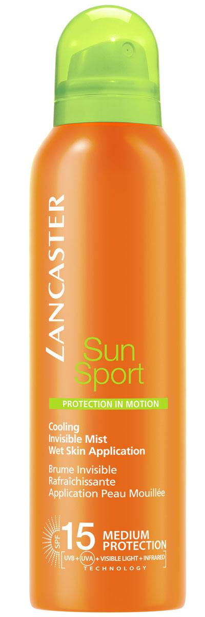 Lancaster Sun Sport Солнцезащитный спрей с возможностью нанесения на влажную кожу и высокой степенью защиты spf 15 для идеального загара, 200 мл lancaster sun sport охлаждающий солнцезащитный спрей для идеального загара spf15 sun sport охлаждающий солнцезащитный спрей для идеального загара spf15