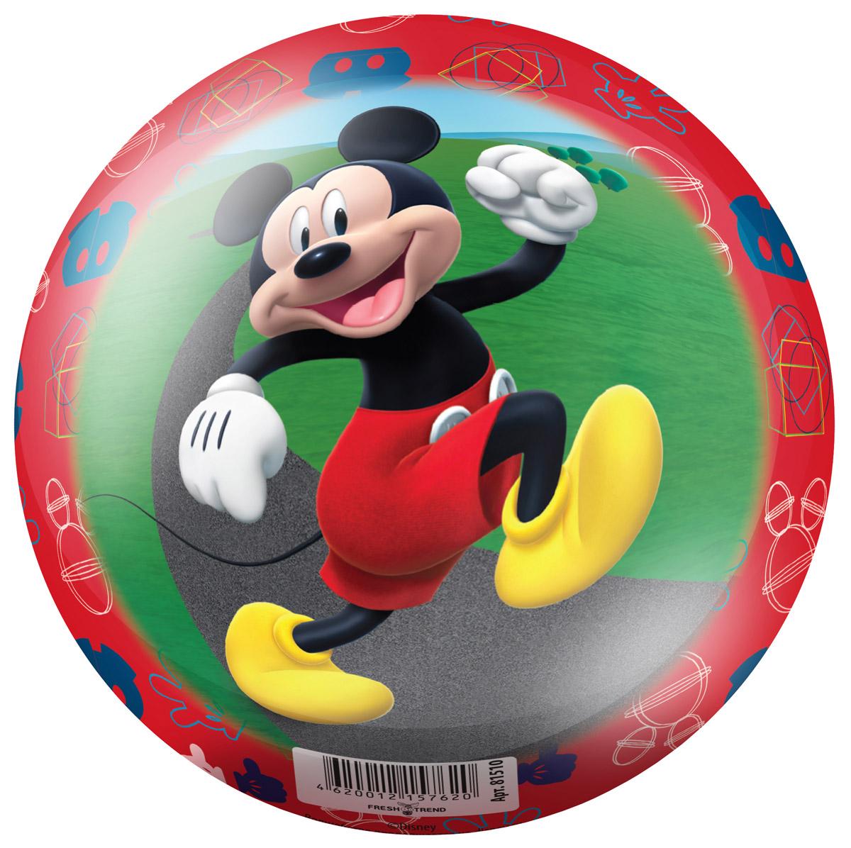 Fresh Trend Мяч Микки цвет красный 15 см lori магниты из гипса клуб микки мауса lori