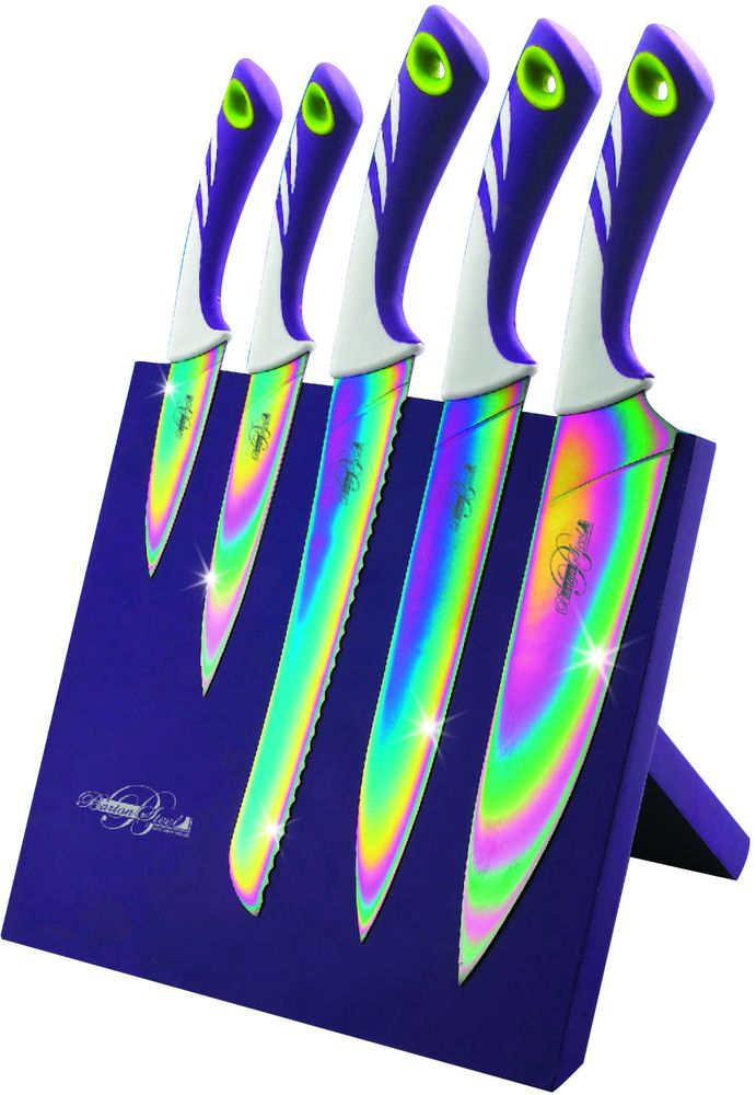 Набор ножей Barton Steel, на подставке, титановое покрытие, 6 предметов barton wallpapers фотообои f10102 200х270 см