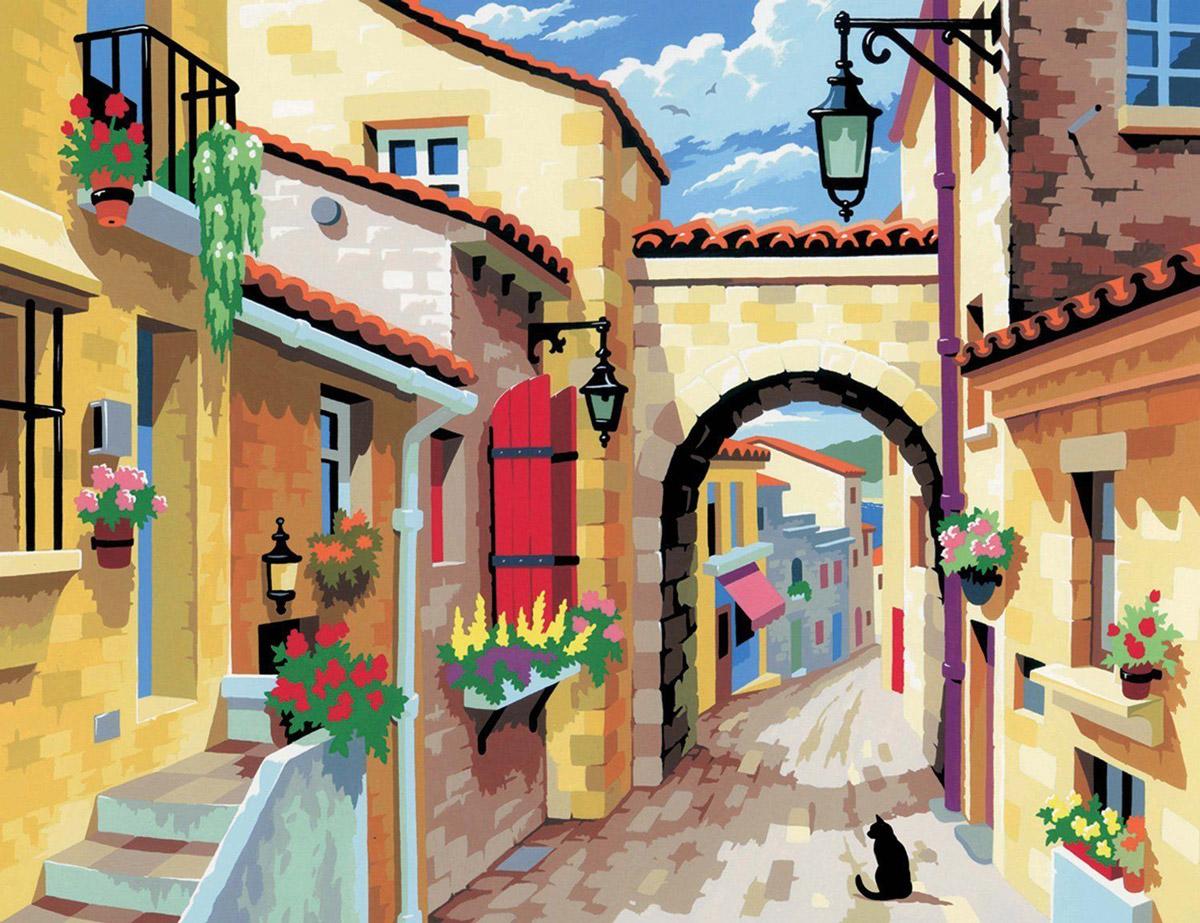 KSG Картина по номерам Городской пейзаж
