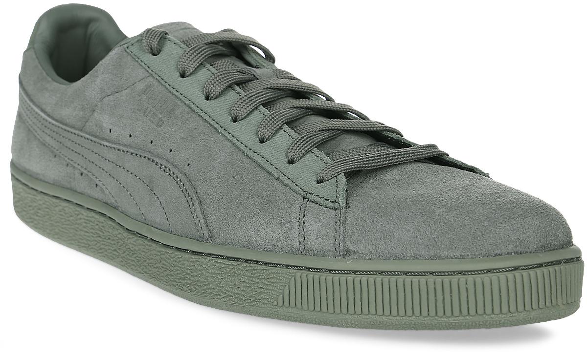 Кеды мужские Puma Suede Classic Tonal, цвет: серо-зеленый. 36259501. Размер 11 (45)36259501Без сомнения самая известная и популярная модель от Puma произвела в своё время настоящую революцию в мире спортивной обуви, прославив этот немецкий бренд и став неотъемлемым аксессуаром молодежи, исповедующей активный стиль жизни, в любой стране мира. Так продолжается с далеких 80-х и до наших дней. Культовая модель Suede представлена в этом сезоне в изысканном монохромном варианте, причем каждое из цветовых решений оживит ваш летний гардероб. Рельефная поверхность подошвы гарантируют отличное сцепление на мокрых поверхностях. Традиционная шнуровка вместе с мягким язычком обеспечивает надежную фиксацию ноги. В таких кедах вашим ногам будет комфортно и уютно.