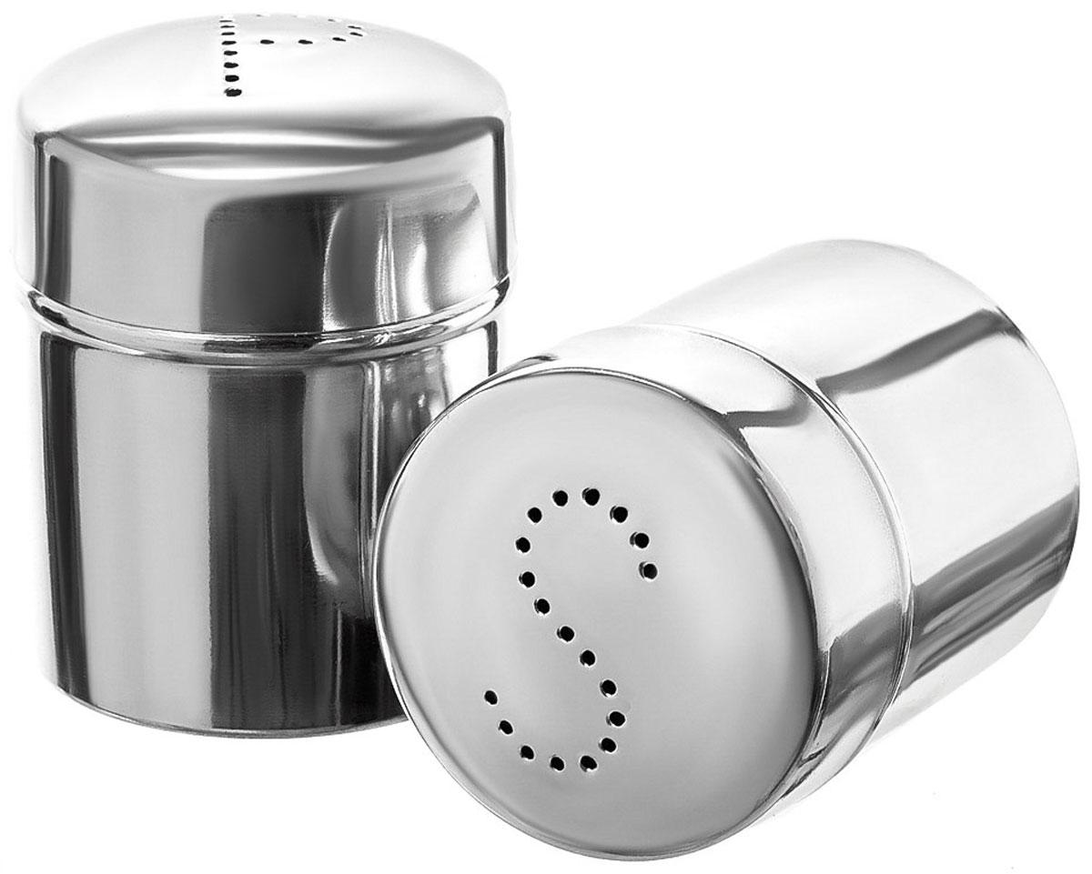 Набор для специй Walmer Denis, 2 предметаW26010507Набор Walmer Denis состоит из солонки и перечницы. Изделия выполнены из высококачественного стали. Такой набор для специй пригодится в любом хозяйстве, он функционален, практичен и легок в уходе. Размер солонки/перечницы: 5 х 5 х 7 см.