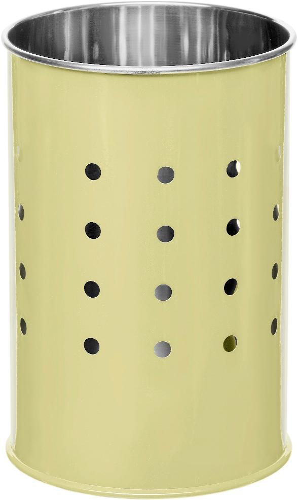 Подставка для столовых приборов Walmer Holly, цвет: кремовый, серый, 10 х 10 х 15 смW26050115Подставка для столовых приборов Walmer Holly выполнена из нержавеющей стали с перфорацией. Подходит для размещения ложек, вилок, ножей и предметов кухонной утвари. Изделие для столовых приборов выполнено в оригинальном дизайне, оно не займет много места, а столовые приборы будут всегда под рукой. Диаметр поставки: 10 см. Высота подставки: 15 см.
