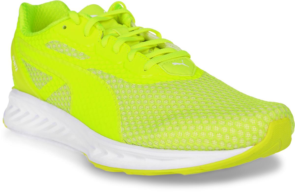 Кроссовки мужские Puma Ignite 3, цвет: желтый. 18944904. Размер 8 (41)18944904Обновленные кроссовки Ignite 3 с новым амортизирующим механизмом обеспечивают возврат энергии и свежесть для более комфортного бега. Верх из дышащей сетки с термополиуретановой пяткой. Механизм обуви обеспечивает улучшенную прочность и делает тренировки еще более интенсивными.