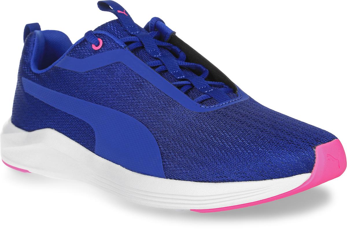 Кроссовки женские для фитнеса Puma Prowl Wn S, цвет: синий. 18946803. Размер 5 (37)18946803Сверхлегкие и эластичные, кроссовки Prowl Wn предназначены специально для женщин и подходят как для занятий на свежем воздухе, так и для тренировок в зале. Оригинальная конструкция верха из бесшовного сетчатого материала делают модель прекрасно вентилируемой и очень удобной в носке. Традиционная шнуровка вместе с мягким язычком обеспечивает надежную фиксацию ноги. В таких кроссовках вашим ногам будет комфортно и уютно. Они подчеркнут ваш стиль и индивидуальность!