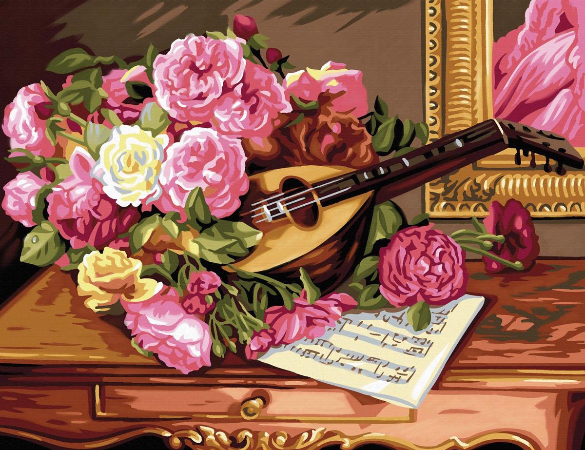 KSG Картина по номерам Романтический букет
