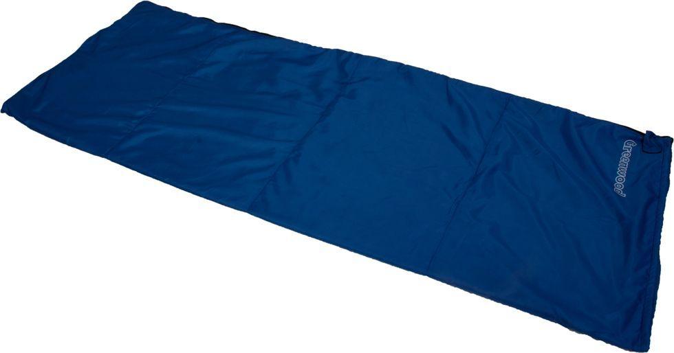 Спальный мешок Greenwood RS FLEECE, левосторонняя молния, цвет: синий, 190 х 75 см гамак туристический greenwood 72217 с креплением и крюком