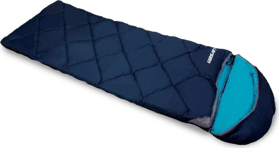 Спальный мешок Larsen RS 350R-1, правосторонняя молния, цвет: синий, голубой, 180 х 40 х 75 см336095Спальный мешок Larsen RS 350R-1 необходимая вещь в походах. Внутренний материал: полиэстер SILK TOUCH Конструкция: одеяло + капюшон Размеры: 180 х 40 х 75 см Вес: 1,80 кг Внешний материал: полиэстер 70D/190T W/R CIRE Наполнитель: холлофайбер, 350 г/кв. м Максимальная температура: + 5°С Температура комфорта: 0°С Экстремальная температура: - 5°С