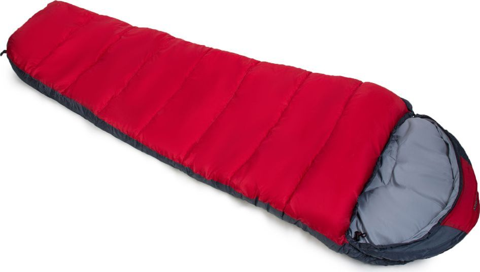 Спальный мешок Larsen RS 400R, правосторонняя молния, цвет: красный, серый, 230 х 80 х 55 см336098Спальный мешок Larsen RS 400R необходим путешественникам и туристам.Внутренний материал: полиэстер Silk Touch 75D/100D Конструкция: кокон Прочный чехол: оксфорд 150D PU1000 Вес: 2,25 кг Внешний материал: полиэстер 70D/190T W/R CIRE Наполнитель: холлофайбер, 2 слоя по 200 г/кв. м Максимальная температура: 0°С Температура комфорта: -5°С Экстремальная температура: - 10°СЧто взять с собой в поход?. Статья OZON Гид