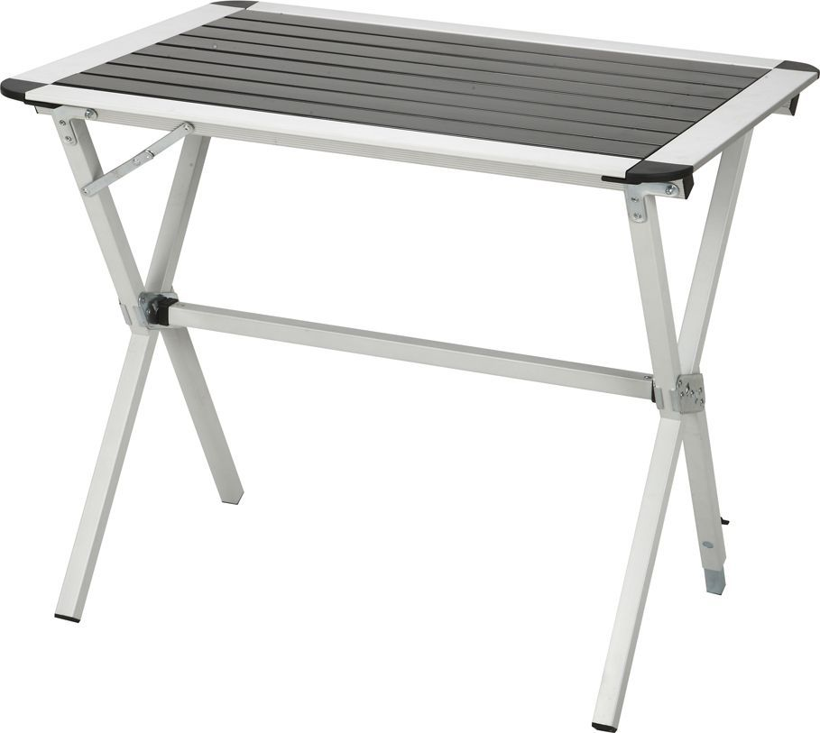 Стол складной Greenwood TA-401S, цвет: серый, 80 x 60 х 70 смAS 25Размер: 80 x 60 х 70 см Материал: алюминий Материал ножек: алюминий (матовое покрытие) Диаметр ножек: 25 мм Вес: 3,8 кг Особенности: 1 ножка регулируется по высоте для создания устойчивости на неровной поверхности Каркас: алюминий Материал столешницы: алюминий Максимальная нагрузка на стол: 30 кг