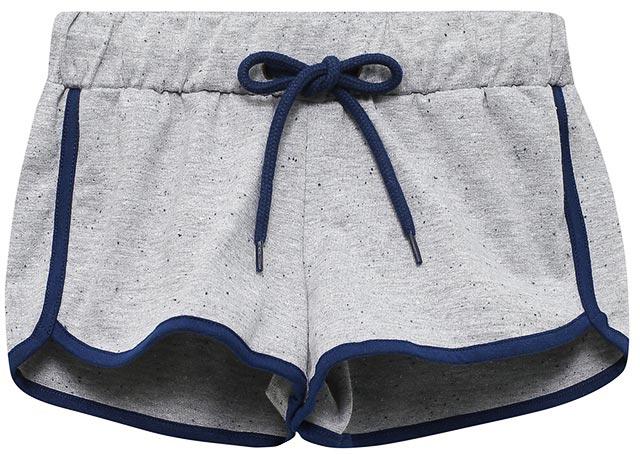 Шорты для девочки Sela, цвет: серый меланж. SHk-615/521-7234. Размер 128, 8 летSHk-615/521-7234Трикотажные шорты для девочки Sela, выполненные из качественного хлопкового материала, идеально подойдут для отдыха, занятий спортом и прогулок. Модель спортивного кроя на талии имеют эластичную резинку, дополнительно регулируемую шнурком. Края дополнены контрастным эластичным кантом. В таких шортах ребенок будет чувствовать себя комфортно и уютно!