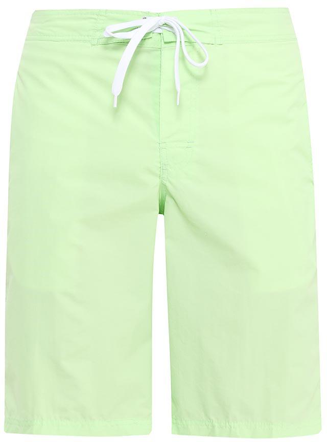 Шорты пляжные мужские Sela, цвет: светло-зеленый. SHsp-215/402-7214. Размер 46SHsp-215/402-7214Мужские пляжные шорты Sela, изготовленные из качественного материала, - идеальный вариант, как для купания, так и для отдыха на пляже. Модель прямого кроя с вшитыми сетчатыми трусами имеет эластичный пояс, регулируемый шнурком. Изделие с имитацией ширинки дополнено двумя прорезными карманами спереди и накладным карманом сзади.Шорты быстро сохнут и сохраняют первоначальный вид и форму даже при длительном использовании.