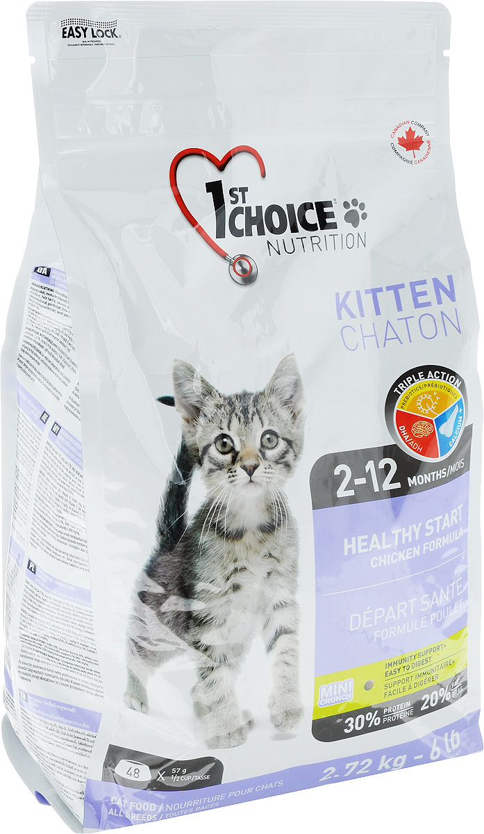 Корм сухой 1st Choice Здоровый старт, для котят, с курицей, 2,72 кг куплю вислоухого котенка в красноярске
