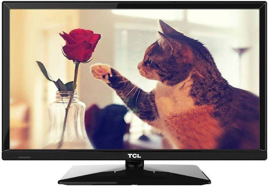 TCL LED24D2710, Black телевизорLED24D2710Телевизор TCL LED24D2710 успешно совмещает в себе все функции, присущие полноценному развлекательному медиацентру. Сочетание превосходного изображения и современных технологий предоставит вам возможность насладиться невероятно четким и ярким изображением. Источником сигнала для качественной реалистичной картинки служат не только цифровые эфирные и кабельные каналы, но и любые записи с внешних носителей, благодаря универсальному встроенному USB медиаплееру. Телевизор поддерживает все популярные форматы.Устройство имеет ряд умных функций. Например, таких как телетекст, таймер сна, родительский контроль.Звук Dolby Digital сделает обладателя ТВ участником событий вместе с киногероями. Стереофонический, мощный, обогащенный басами звук никого не оставит равнодушным.Стильный корпус легко впишется в любой интерьер, а специальная возможность крепления телевизора на стену позволит разместить устройство с максимальным удобством.