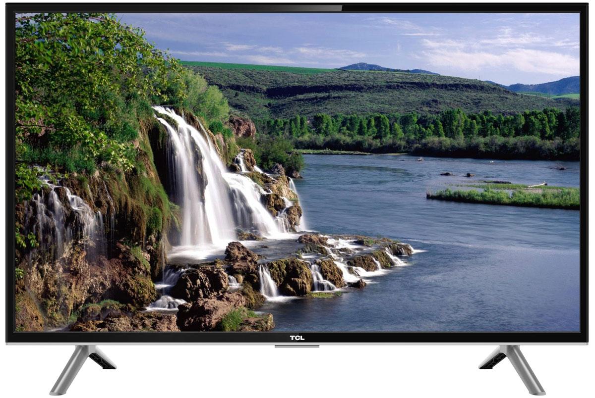 TCL LED43D2900, Black телевизорLED43D2900Телевизор TCL LED43D2900 успешно совмещает в себе все функции, присущие полноценному развлекательному медиацентру. Сочетание превосходного изображения и современных технологий предоставит вам возможность насладиться невероятно четким и ярким изображением. Источником сигнала для качественной реалистичной картинки служат не только цифровые эфирные и кабельные каналы, но и любые записи с внешних носителей, благодаря универсальному встроенному USB медиаплееру. Телевизор поддерживает все популярные форматы.Устройство имеет ряд умных функций. Например, таких как телетекст, таймер сна, родительский контроль.Звук Dolby Digital сделает обладателя ТВ участником событий вместе с киногероями. Стереофонический, мощный, обогащенный басами звук никого не оставит равнодушным.Стильный корпус легко впишется в любой интерьер, а специальная возможность крепления телевизора на стену позволит разместить устройство с максимальным удобством.
