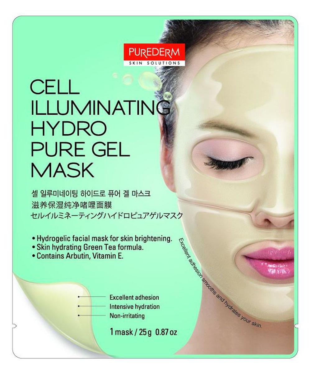 Purederm Маска гидрогелевая для сияния кожи, 25 г586973Интенсивный уход для кожи лица на основе гидрогеля. В состав маски входит активный комплекс увлажняющих компонентов: Арбутин, Экстракт Зеленого Чая, Витамин Е, Бета-глюкан, а также смягчающие компоненты для выравнивания тона кожи, осветления пигментных пятен, придания коже идеально сияющего цвета. Благодаря плотному прилеганию активные компоненты глубоко проникают в кожу, насыщают и питают ее. По мере того, как активные ингредиенты проникают в кожу, маска становится тоньше.
