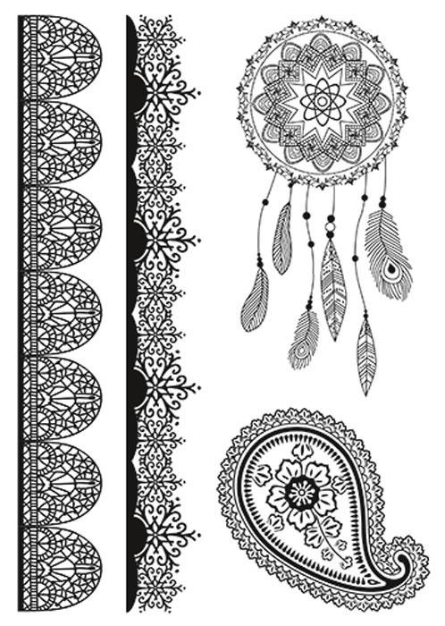 nailLOOK Переводные татуировки для тела, 20,8 см х 14,8 см. 20847 naillook переводные татуировки для тела 7 2 см х 10 2 см 20868