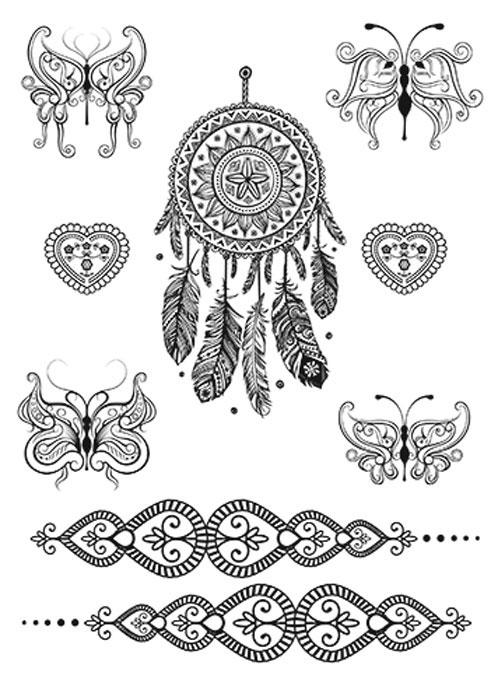 nailLOOK Переводные татуировки для тела, 20,8 см х 14,8 см. 20879 naillook переводные татуировки для тела 7 2 см х 10 2 см 20871