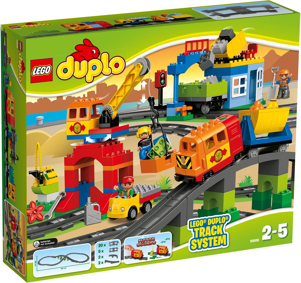 LEGO DUPLO Конструктор Большой поезд 10508 lego duplo 10508 лего дупло большой поезд