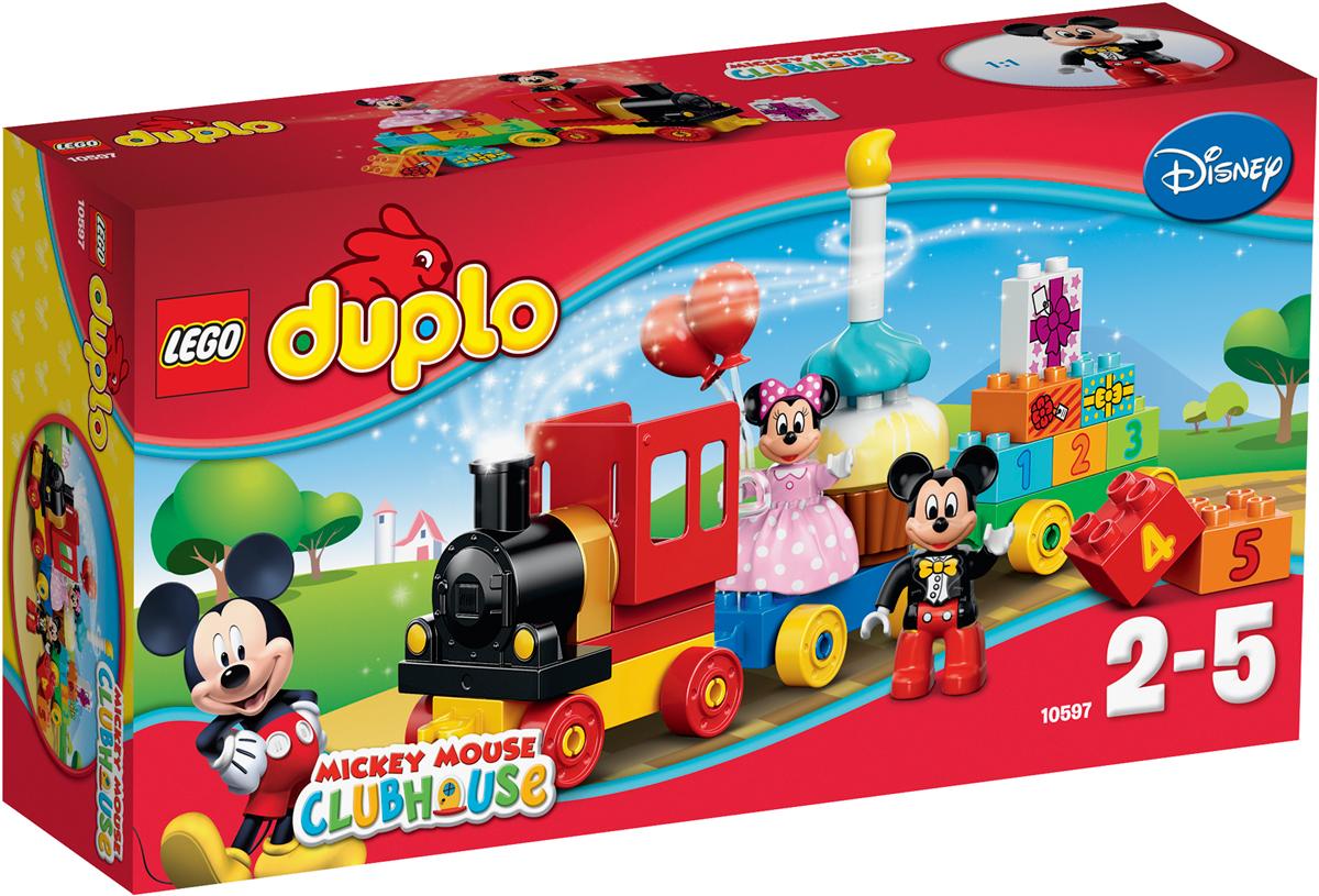 конструкторы lego lego duplo disney tm гоночная машина микки 10843 LEGO DUPLO Конструктор День рождения с Микки и Минни 10597