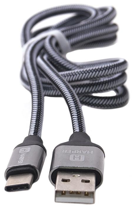 Harper Brch-710, Silver кабель USB - Type C (1 м)00-00001357USB - TYPE C, Длина кабеля: 1 м. Нейлоновая оплетка. Повышенная износоустойчивость. Повышенный срок службы - проверенные материалы. Mеталлический штекер на концах. Способны заряжать устройства до 2 ампер.