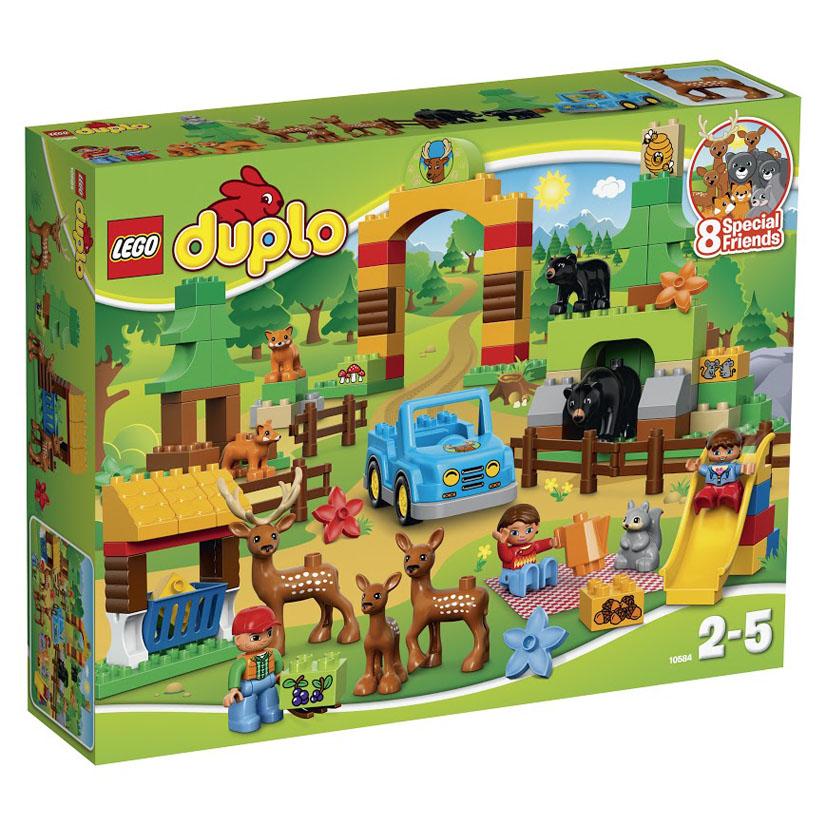 LEGO DUPLO Конструктор Лесной заповедник 10584 конструктор lego duplo лесной заповедник 10584