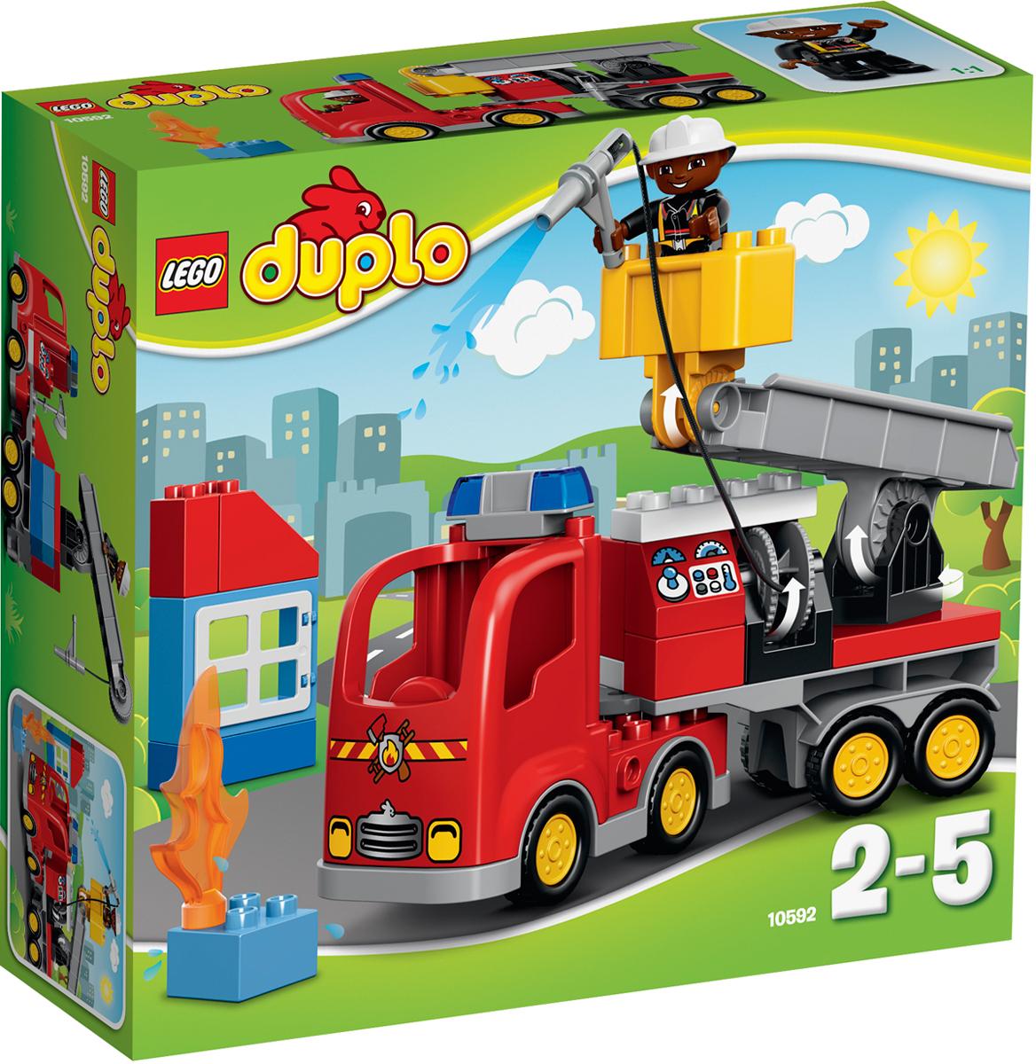 LEGO DUPLO Конструктор Пожарный грузовик 10592 - Игрушки для малышей