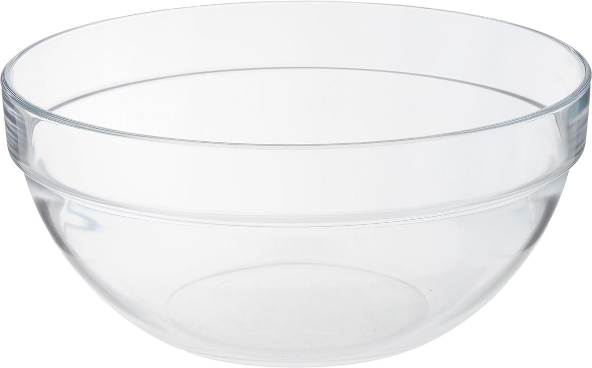 """Простой и универсальный дизайн салатника Luminarc """"Empilable"""", диаметром 23 см,  отлично может сочетаться с любым интерьером и стилем сервировки. Идеален  для подачи легких летних салатов.  Материал: ударопрочное стекло, устойчивое к резким перепадам температуры.    Можно мыть в посудомоечной машине и использовать в СВЧ."""