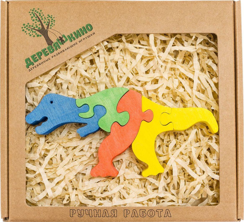 Деревяшкино Пазл для малышей Тираннозавр Рекс деревяшкино пазл для малышей бронтозавр 2