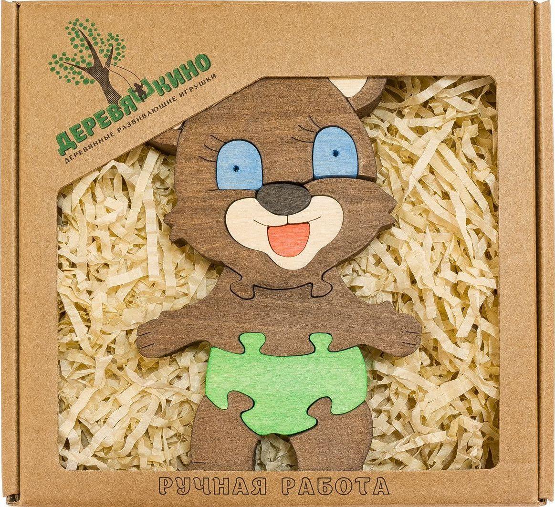 Деревяшкино Пазл для малышей Мишка 2 деревяшкино пазл для малышей бронтозавр 2
