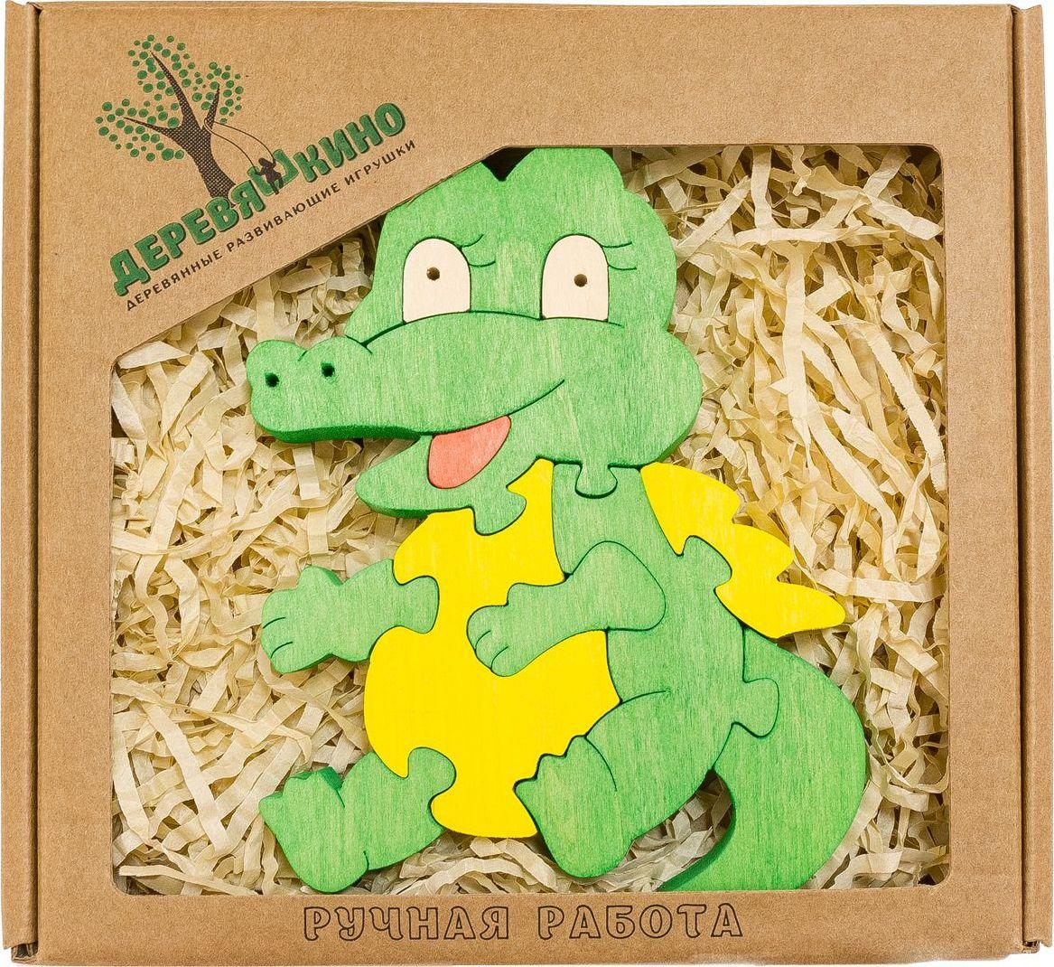 Деревяшкино Пазл для малышей Крокодильчик деревяшкино пазл для малышей бронтозавр 2
