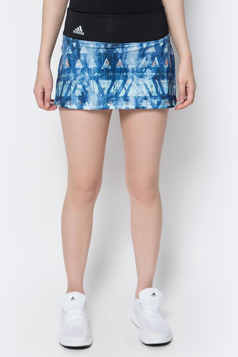 Юбка для тенниса Adidas Essex Tr Skirt, цвет: черный, мульти. B45804. Размер XS (40/42)B45804Юбка для тенниса adidas Essex Tr Skirt исполнена из ткани с технологией climalite, идеальное влагоотведение.