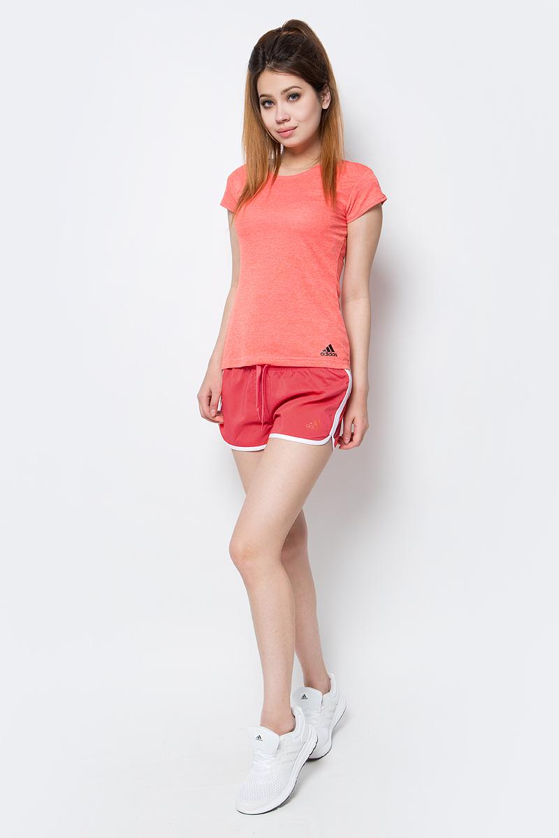 Шорты пляжные женские adidas Bg1 3S Short, цвет: розовый. BJ9777. Размер 38 (46)BJ9777Шорты пляжные женские adidas Bg1 3S Short выполнены из 100% полиэстера. Удобные и быстросохнущие.