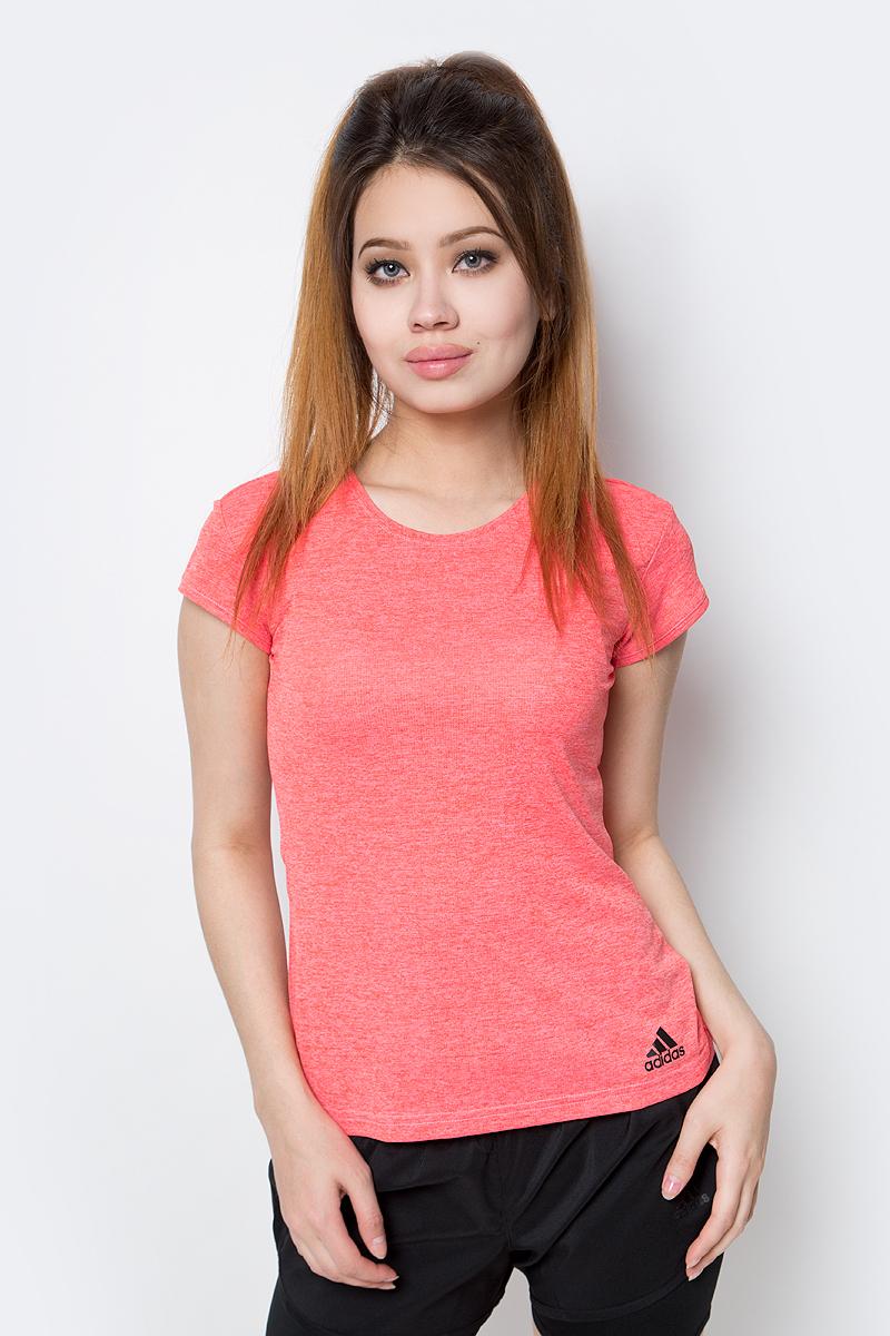 Футболка женская Adidas, цвет: розовый. B45830. Размер XS (40/42) женская одежда для спорта