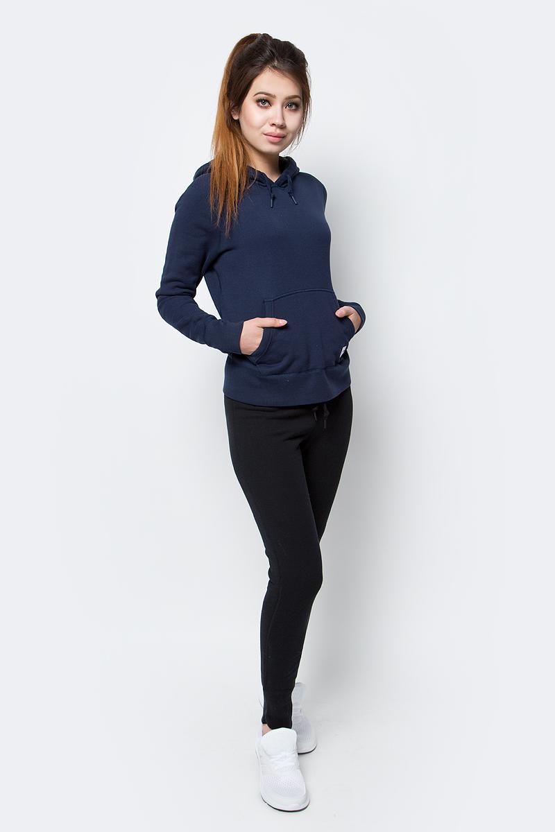 Брюки спортивные женские Converse Sportswear Pant, цвет: черный. 10001020001. Размер XS (42)10001020001Удобные женские спортивные брюки Converse, выполненные из натурального хлопка, великолепно подойдут для отдыха, повседневной носки, а также для занятий спортом. Модель средней посадки имеет широкую эластичную резинку на поясе, объем талии регулируется при помощи шнурка-кулиски. Низ брючин дополнен широкими манжетами.