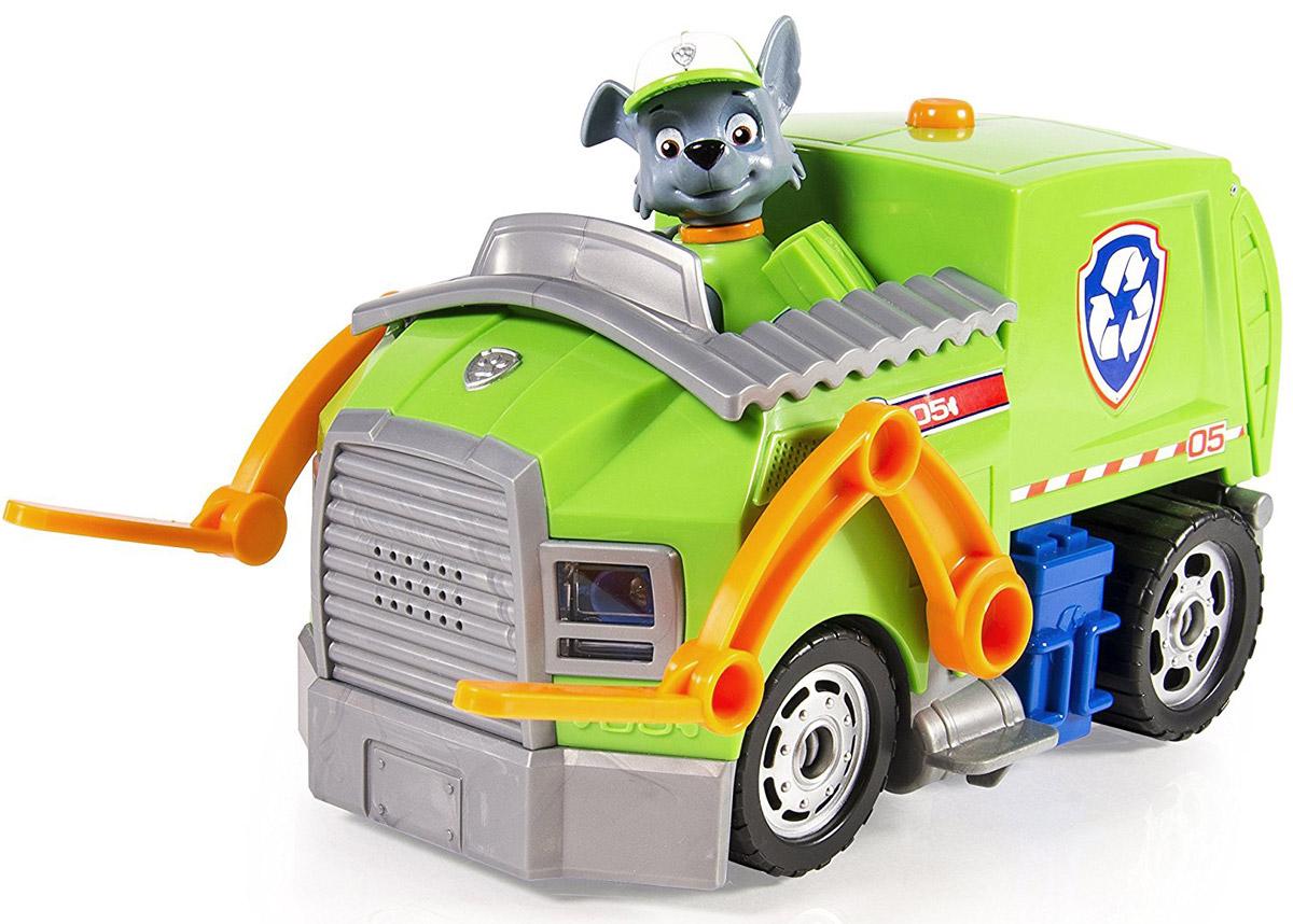Paw Patrol Машинка Мусоровоз Рокки spin master большой автомобиль спасателей погрузчик рокки щенячий патруль
